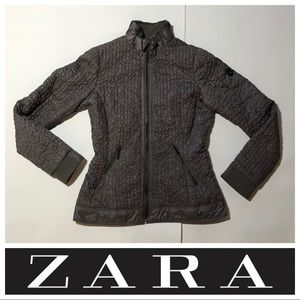 ZARA WOMAN XS Quilted Ruched Jacket AUTHENTIC